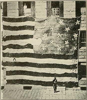 The American Flag that flew over Fort McHenry in 1814