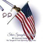 Silver flagpole