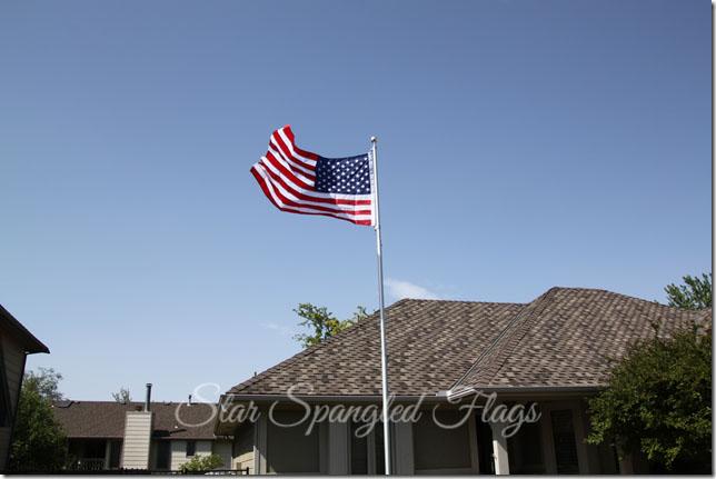 flag flying on flagpole