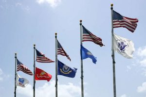 American military flags