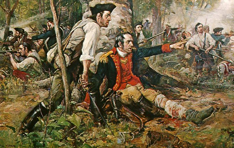 Herkimer at the Battle of Oriskany | Painting by F.C. Yohn, c. 1901
