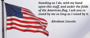 Abraham Lincoln on the American Flag