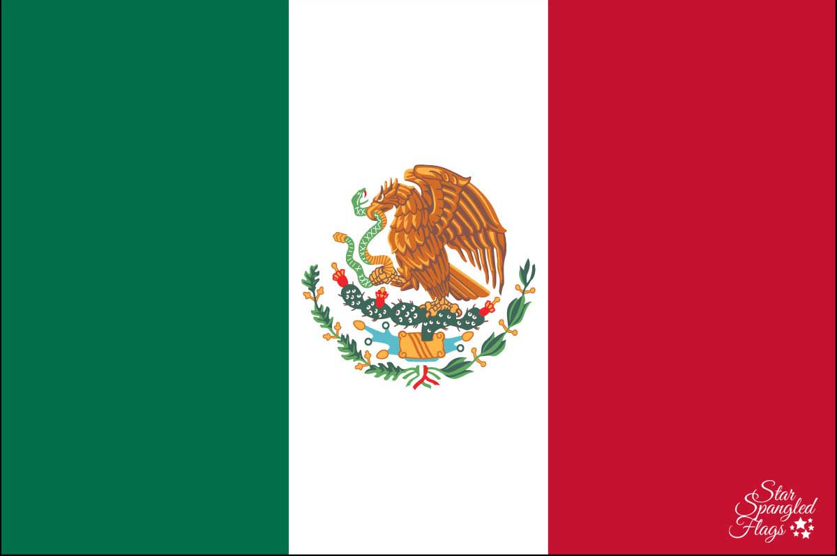 Flag of Mexico - Sales, Buy, Nylon - Star Spangled Flags