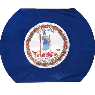Flag and seal of Virginia